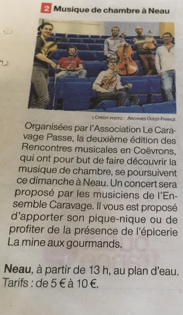 Ensemble Caravage - RMC 2019 - Annonce OF